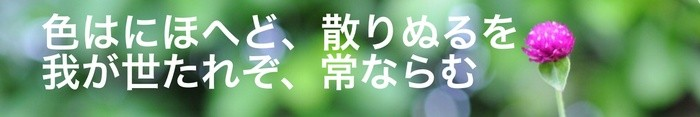 Sample title in Japanese, written with Ribeye Marrow character font.